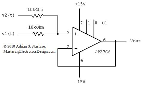summing integrator circuit using the summing lifier as an average lifier mastering electronics design