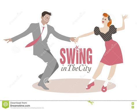 swing hop illustration on a swing from 1940 s aol image
