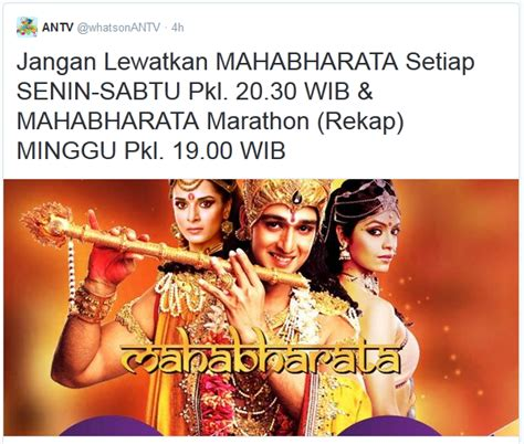 berakhir versi india mahabharata versi terbaru di antv mangga manis
