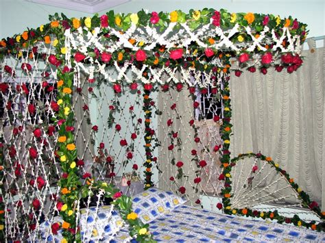 Decorating Backyard Wedding Flowers Wedding Bed Decoration Party Themes Inspiration