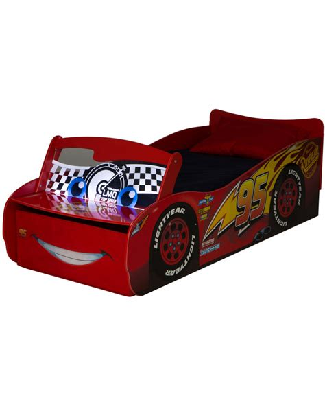 disney cars lightning mcqueen toddler bed disney cars lightning mcqueen feature toddler bed with