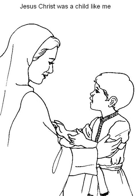 coloring pages jesus grows up jesus was a child like me