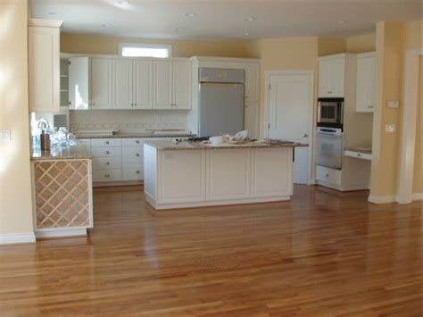 White Cabinets With Floors by Oak Floors With White Cabinets This Picture Is Of A New