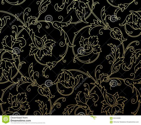 vector pattern luxury luxury golden seamless wallpaper pattern vector