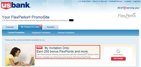 flexperks us bank targeted earn 250 us bank flexpoints for joining e rewards