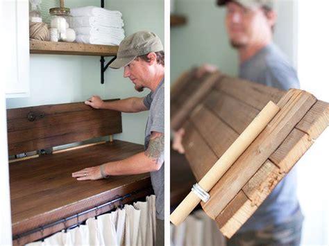 diy wood door countertops wood door turned countertop for laundry room makeover the lettered cottage diy