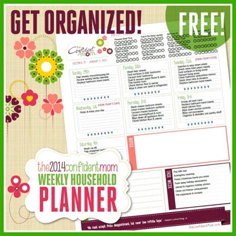 household planner free printables simple strategies for a clean and organized home the