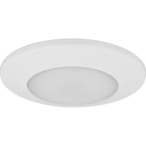 Surface Mount Can Light by Halo 4 In Matte White Recessed Led 3000k Surface Disk