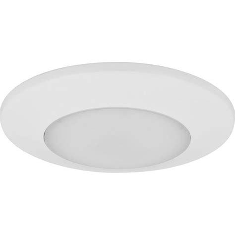 surface mount led lights halo 4 in matte white recessed led 3000k surface disk
