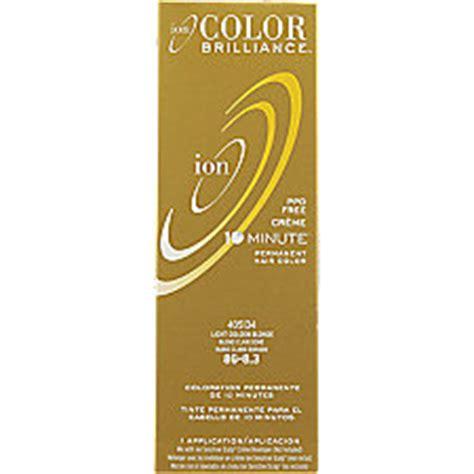 ion light golden brown ion color brilliance permanent creme 10 minute hair color