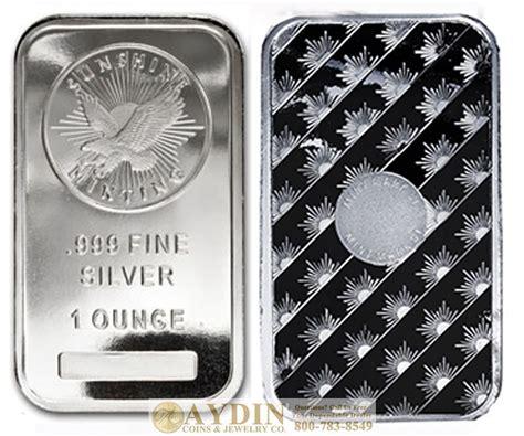 1 Troy Ounce Silver Bar - 1 troy ounce minting silver bar 1 oz 999