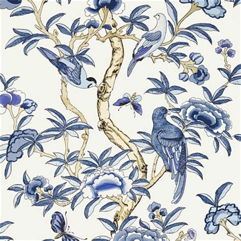 chinoiserie wallpaper uk blue thibaut giselle wallpaper in blue and white