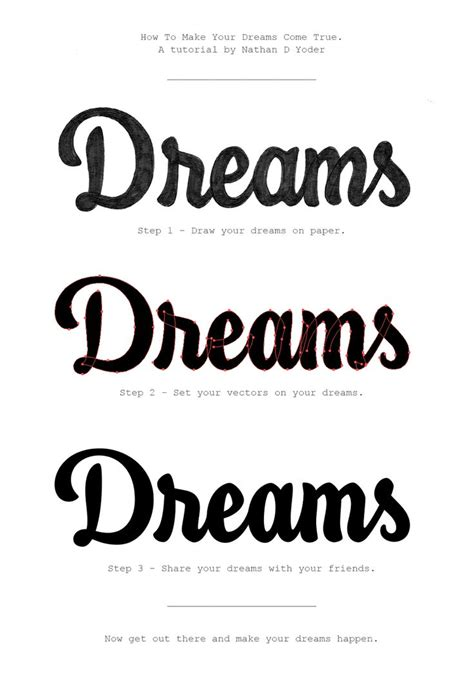 Typography Lettering Tutorial | dreams tutorial by nathan yoder typography lettering