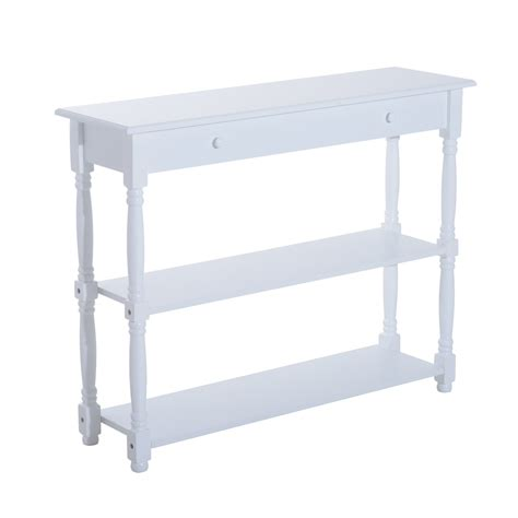 home goods entryway table homcom 40 quot pine wood entryway console table white end
