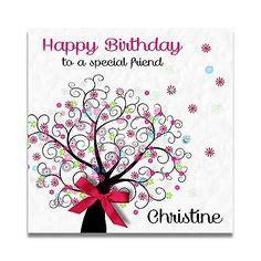 Special Friend 30th Birthday Card Handmade Personalised Ladies Special Friend 30th 40th 50th