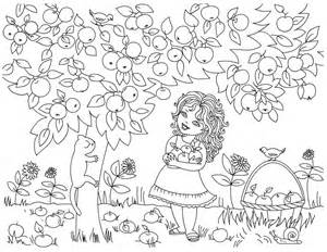 coloring page vegetable garden images