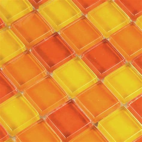 fliese orange glasmosaik fliesen gelb orange rot 25x25x8mm tm33451