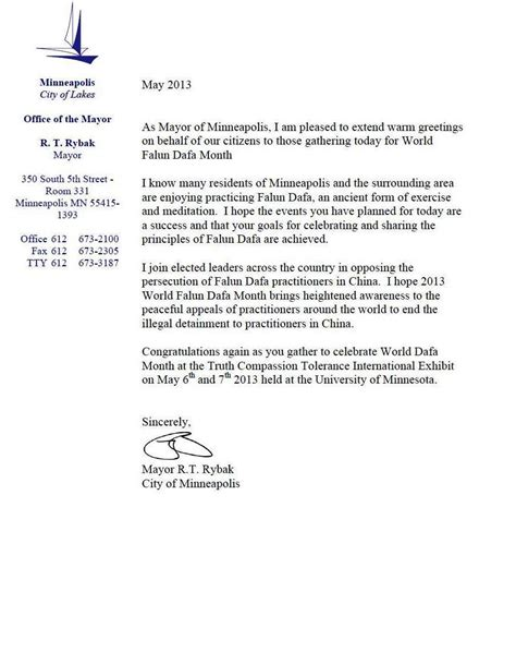 cover letter end greeting minnesota usa mayor of minneapolis sends greetings for