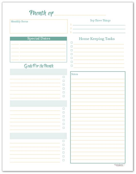 monthly goal planner printable monthly planning pages to help you reach your goals