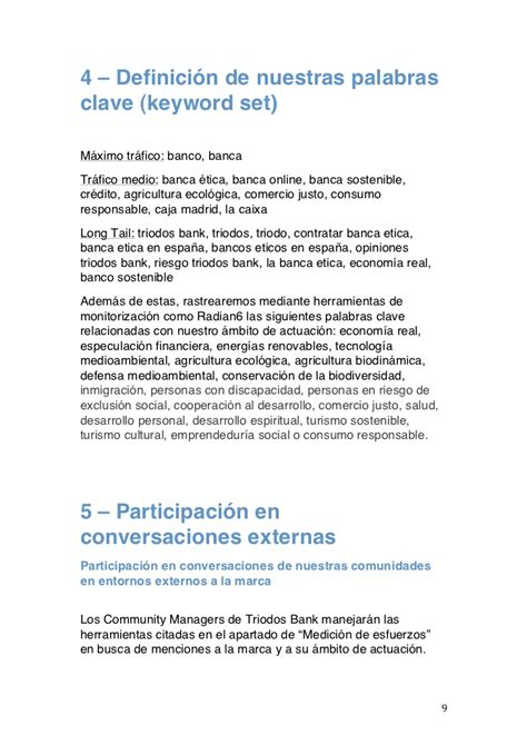 plan de comunicaci 243 n de triodos bank de sim 243 n casal - Triodo Banco