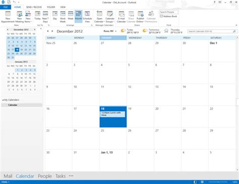 Where Is Calendar In Outlook 2013 How To Create Calendars In Outlook 2013 Dummies