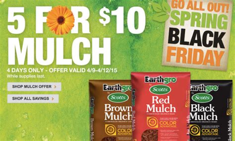 home depot black friday sale five bags of mulch