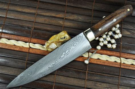 Handmade Chefs Knives - custom made chef s knife damascus steel ideal for
