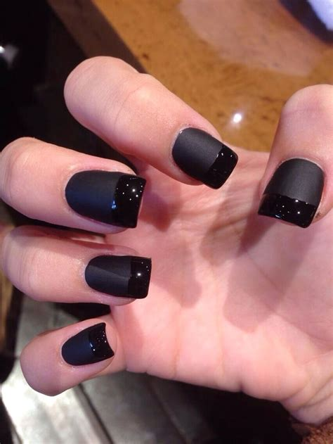 matte black nail target the 25 best black acrylic nails ideas on