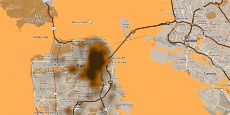 san francisco excrement map map shows how likely you are to step in the bold