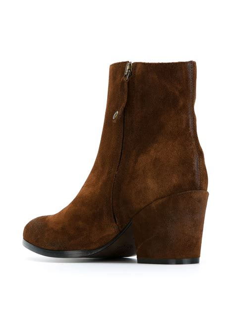 buttero suede ankle boots in brown lyst