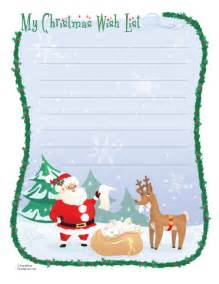 Santa Christmas List Template My Christmas Wish List The Secret Obsession