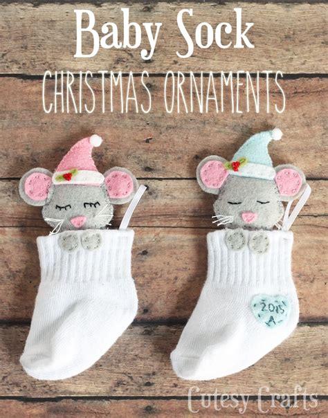 sound blockers for babies baby sock diy ornaments cutesy crafts