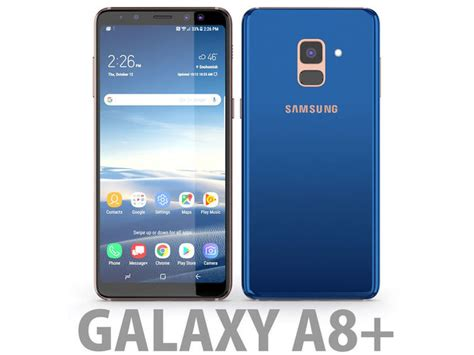 Samsung Galaxy A8 Blue 3d model samsung galaxy a8 plus 2018 blue cgtrader