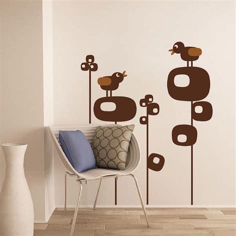 B16 Wall Border Sticker bird tree wall decals nursery brdroom decor