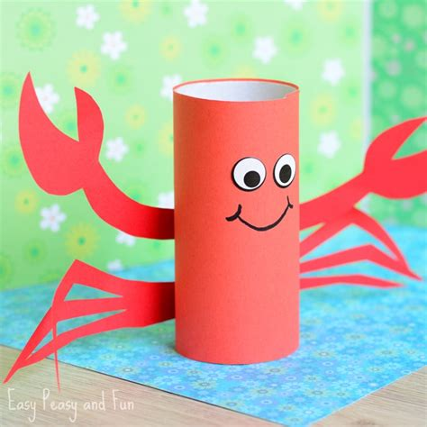 Craft Paper Roll - paper roll crab craft easy peasy and
