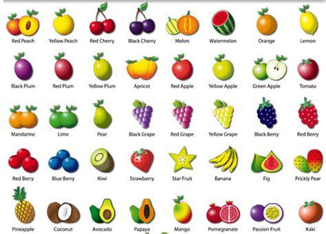 l fruit name vegetables list a z