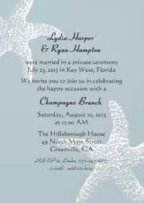 post wedding reception invitation wording 17 best ideas about reception invitations on