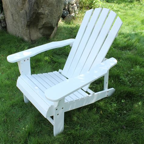 outdoor folidng wood adirondack chair 2 colors white red
