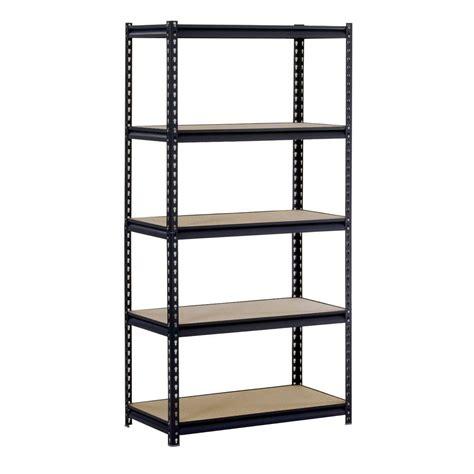 metal shelving units edsal 72 in h x 36 in w x 18 in d 5 shelf steel shelving unit in black ur185p blk the home
