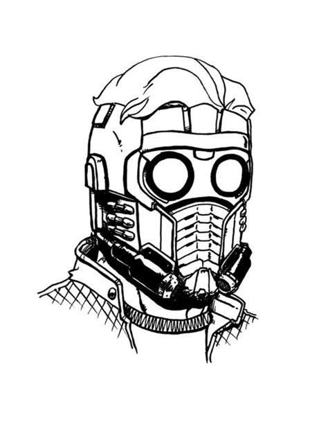 Dibujos para colorear: Star-Lord imprimible, gratis, para