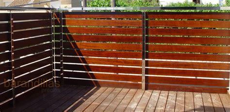 barandilla de madera exterior madera m1 barandillas