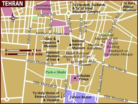 map of tehran iran map of tehran
