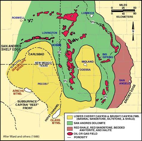 Eastern Shelf Permian Basin by Lower Guadalupian Facies Distribution