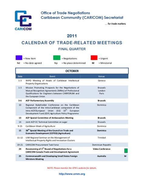 Gw Mba Calendar by Otn Calendar 2011 Q4