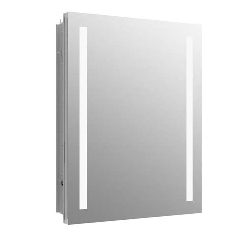 recessed medicine cabinet with led lights shop kohler verdera 24 in x 30 in rectangle surface