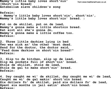 song in american song lyrics for mammy s baby