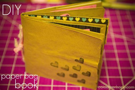 How Do You Make A Paper Bag Book Cover - diy paper bag book colour