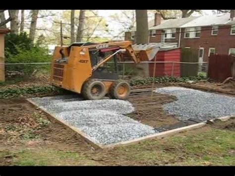 trust roof   building  shed foundation  gravel
