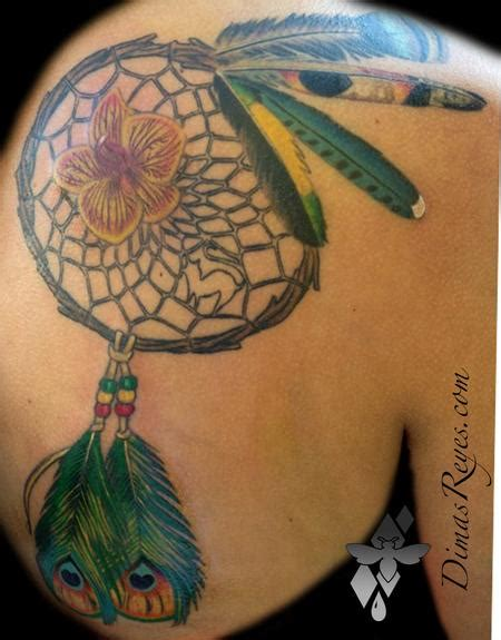 realistic dreamcatcher tattoo kingdom studio tattoos ethnic native american color