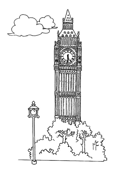 bens coloring pages alphabet big ben free coloring pages